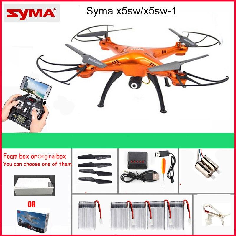 Syma x5sw/X5SW-1 fpv quadcopter wifi, drone com câmera, sem cabeça, controle remoto em tempo real, rc, helicóptero, brinquedos