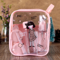 Lovely  Portable Travel Cosmetics Bottling Suit Pressed Bottle Spray Bottle(Pink)