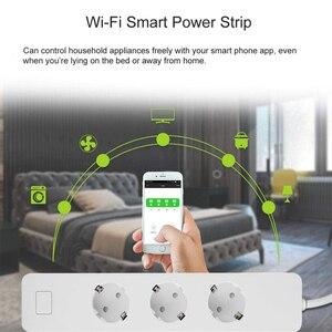 Image 5 - Inteligentna wtyczka, listwa zasilająca, WiFi Surge Protector czasomierz bezprzewodowy gniazdo współpracuje z Google Home, Alexa