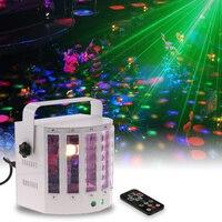 18W Dj Laser Disco Stage Light 2 Channel Remote Control Butterfly Stage Light Dmx512 Sound Activated Strobe Effect Lamp Ktv Club