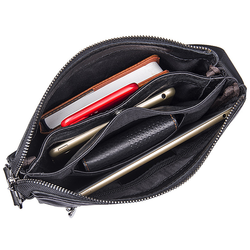 Luxury Cross Body Crossbody For Men Shoulder Genuine Leather Bag Messenger Handbag Male Briefcase Black Sac A Main Bolsas 2019