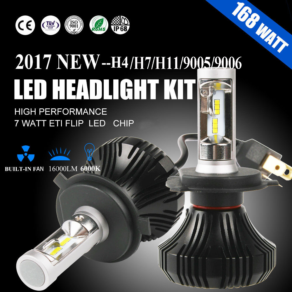 Autofeel H4 H7 H8 H9 H11 9007 HB5 H13 84W 8000LM 6500K 12V Car Led Headlight