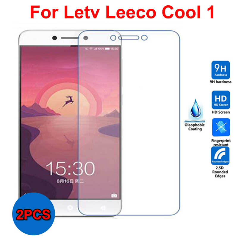 2PCS Glass For Leeco Cool 1 Tempered Glass Screen Protector Leeco Cool 1 Glass Letv Leeco Cool1 Scratch proof Phone Front Film