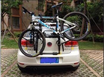 Universal ด้านหลังจักรยานติดตั้ง rack แขวนสามรถแขวนโดยไม่ต้องหยุดใบอนุญาตแผ่น