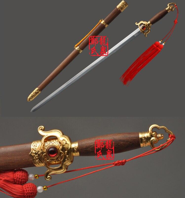 Lame Flexible d'acier inoxydable d'épée chinoise d'art Martial de 41 pouces mots de Kungfu pour la pratique TaiJi Jian aucun tranchant
