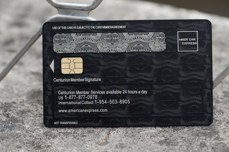 With box, American express express the centurion black card metal