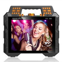 High Power Bluetooth Speaker, Portable Video Player, Portable MP3 Player, HD Screen Outdoor Music Stereo Karaoke 18650 Battery