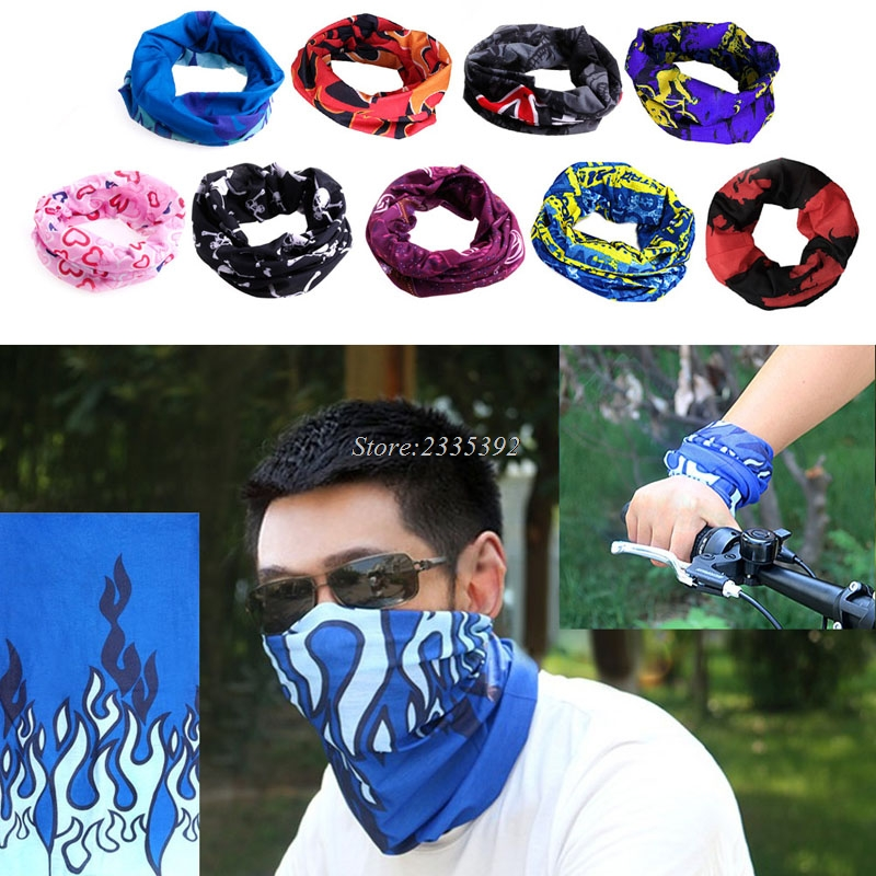 Bicycle Outdoor Bandana Bohemia Head Face Mask Bicycle Neck Wrap Shawl Scarf fine gauze painted butterfly shawl scarf