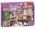 10495 389pcs Friends City Food Market Building Blocks Mia Maya figureblock Bricks Toys Friend Girls 41108 Compatible with lego