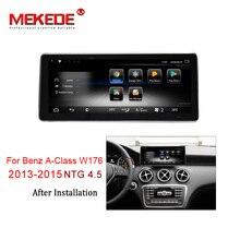 MEKEDE Автомобильный мультимедийный плеер 4 аппарат не привязан к оператору сотовой связи Android 7,1 3 + 32G Автомобильный dvd-радиоплеер для Mercedes BENZ A, CLA, glа W176 2013-2015 NTG 4,5