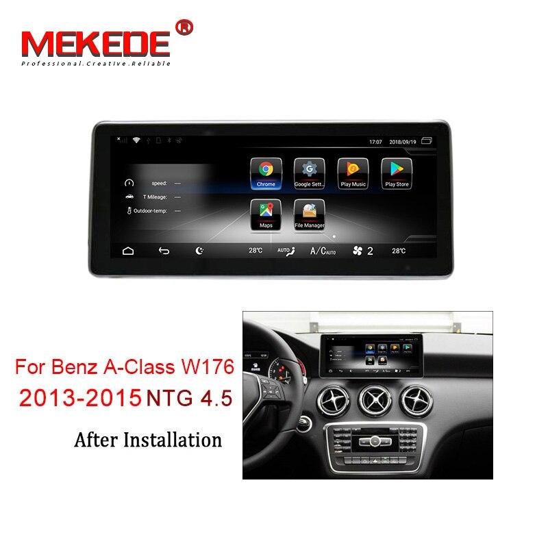 Reprodutor multimídia Carro MEKEDE 3 + 32 4G lte Android 7.1G rádio Do Carro DVD player Para Mercedes BENZ UMA classe W176 2013-2015 NTG 4.5