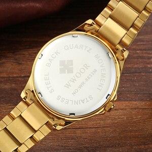Image 4 - Watches men 2019 Top Brand Luxury Stainless Steel Gold wristwatch men Waterproof golden male watch men 2018 Relogio Masculino