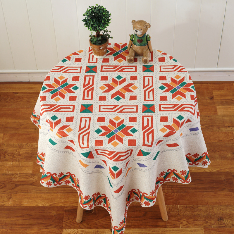 Mordern Dining And Coffee Round Table Cloth Fabric Rectangular Linen Table  Covers For Hotel Party Wedding