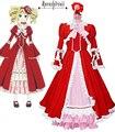 Free Shipping Black Butler Kuroshitsuji Elizabeth Midford Liz Red Lolita Long Dress Anime Cosplay Costume