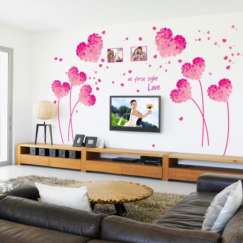 Red Love Wall Decor : Aliexpress buy fashion red love heart wall decor