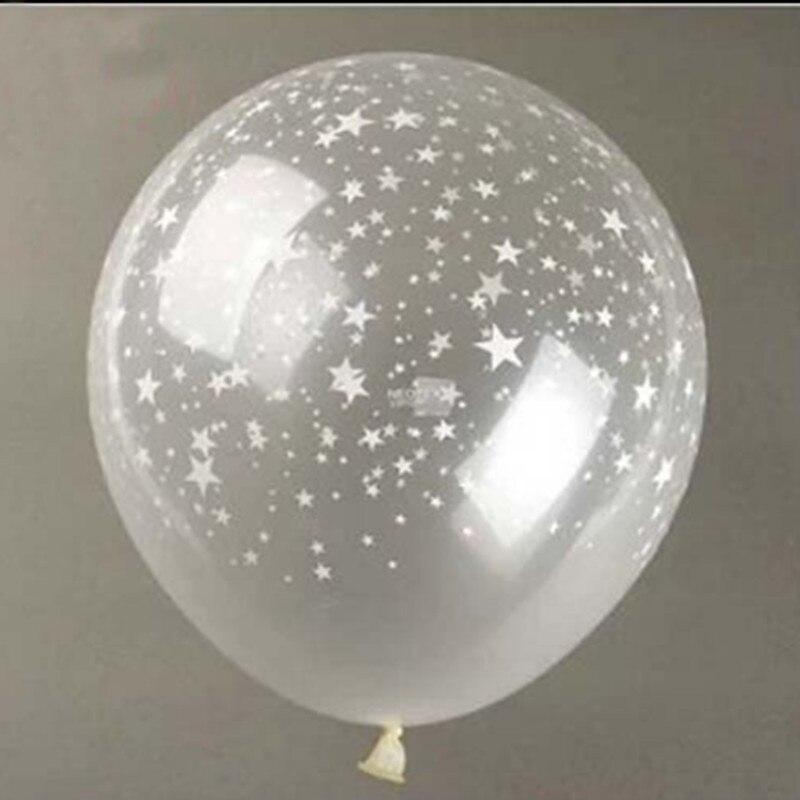 10 unidslote 12 pulgadas clear estrellas romntica perla gruesa bola transparente para el cumpleaos