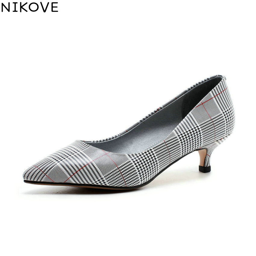 NIKOVE 2018 Women Pumps Shoes Casual PU Spring and Autumn Slip on Pointed Toe Thin High Heels Pumps Shoes for Women Size 34-43 2017 shoes women med heels tassel slip on women pumps solid round toe high quality loafers preppy style lady casual shoes 17