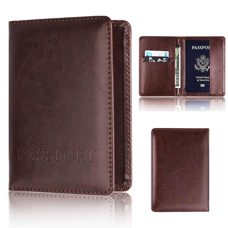 51bb3fc4b419 Detail Feedback Questions about Men Women Leather Passport Cover ...