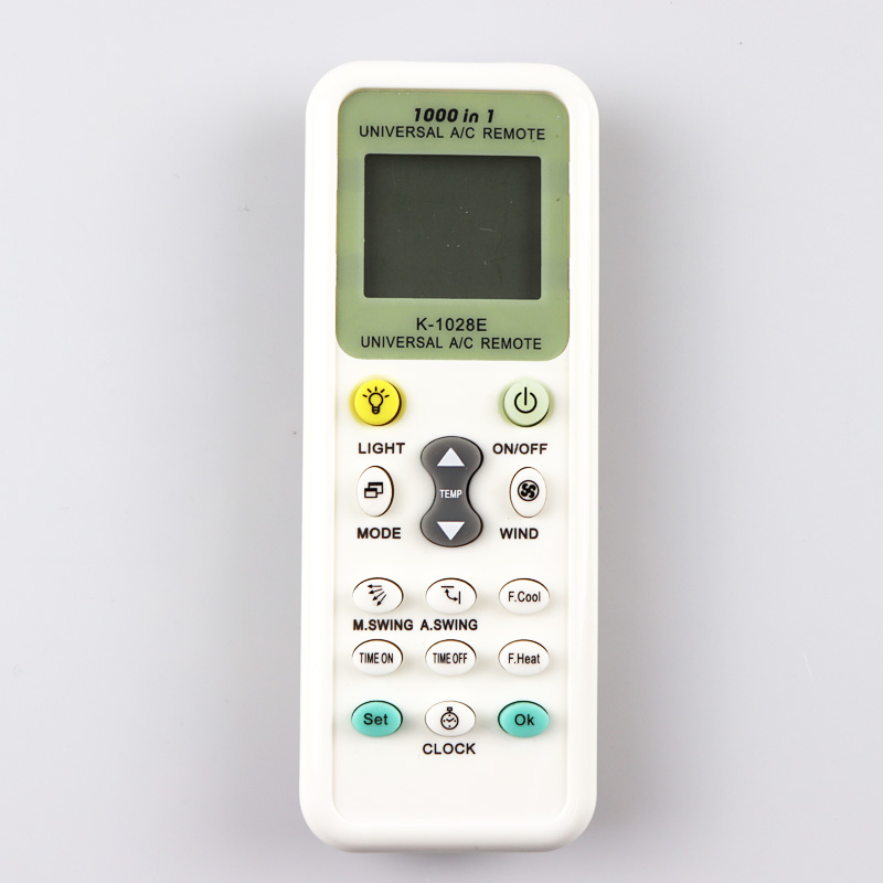 1000 in 1 universal AC LCD remote control K-1028E 1028E for air conditioner Low Power Consumption Remote Control Controller 1