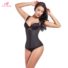 6XL Latex Vest Waist Cincher Chest Binder Body Shaper Corrector For Women Corset Slimming Plus Size Training Beauty