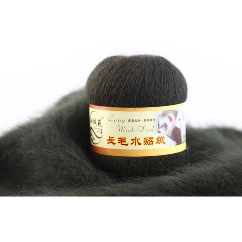 Soft Yarn Mink Wool Hand-knitted Long-wool Cashmere Crochet Knitted Yarn Suitable For Autumn