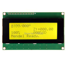 Yellow Color Serial I2C/TWI 2004 Character LCD Module For 3D Printer Or Other Diy Project