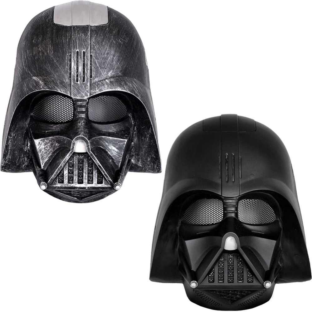 1 Piece Film Star Wars Darth Vader Anakin Skywalker Cosplay Masker Full Face FRP Helm Koleksi Halloween Alat Peraga Partai