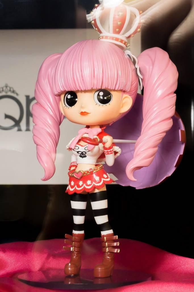 One Piece Perhona Perona Ghost Princess Q Posket Original 14CM PVC Action Figure Toy