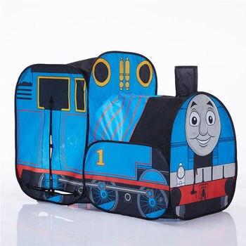 Recién llegado, tren pequeño, tienda para niños, interior y exterior, puzle de casa para juegos de bebé, regalo de cumpleaños, juguetes educativos tempranos plegables