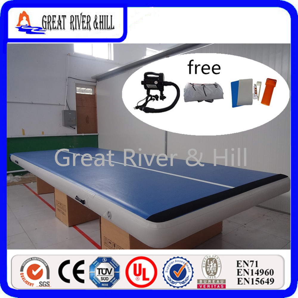 Great river & hill training mats air track good bounce with fedex shipping 5m x2m x20cm ...