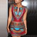 2016 Новый Национальный Печати Sleeveles Sexy Цифровой Тотем Плотно Лето Одеяние Longue Femme Bodycon Dress