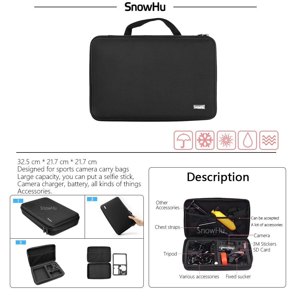 SnowHu para Gopro accesorios set para go pro hero 7 6 5 4 3 kit de montaje para SJ5000 para Eken para xiaomi para yi 4 k trípode de cámara GS13 - 4