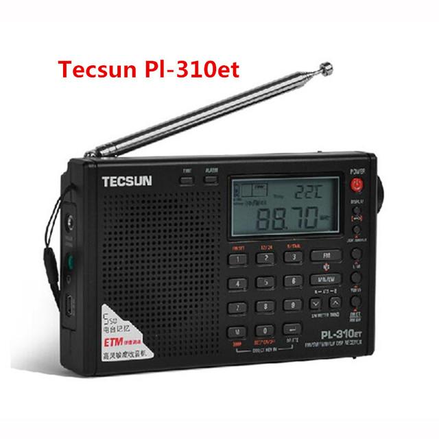 Original Tecsun PL310ET rádio FM Banda Completa receptor Demodulador Digital FM/AM/SW receptor Estéreo tecsun rádio portátil pl-310et