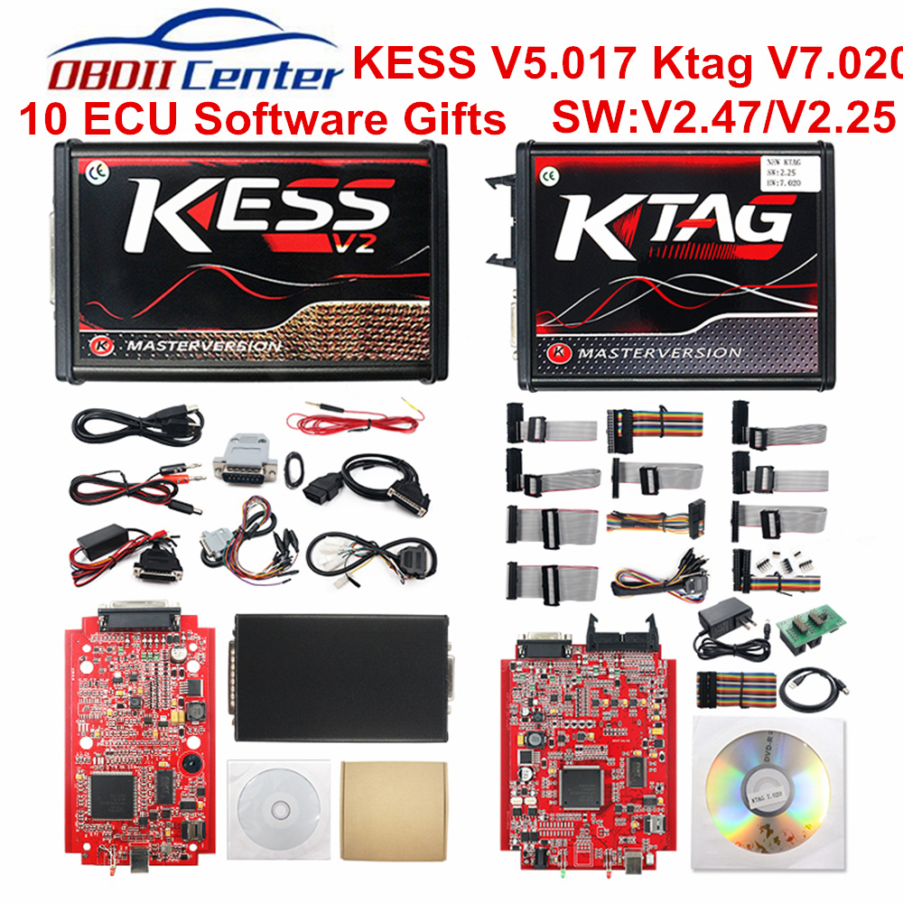 Новое поступление Kess V2 SW V2 32 FW V4 036 OBD2 менеджер + K-TAG 2,13