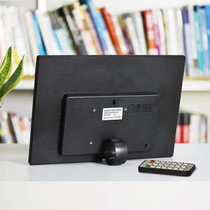 Image 5 - Andoer 15 Cal duży ekran LED cyfrowa ramka na zdjęcia Album na biurko HD funkcje kalendarza z ruchu czujnik detektora klawisze dotykowe