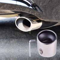 Chrome Stainless Steel Finisher Exhaust Tail Rear Muffler Tip Pipe Tailpipe For Honda Accord 2 0