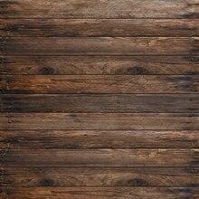 Fotografia Backdrop-nascidos 5x5ft Cinza Piso de Madeira Do Vintage Fundo Da Parede de Tijolo Fundo da Arte Tecido Recém-nascidos Backdrops Personalizado
