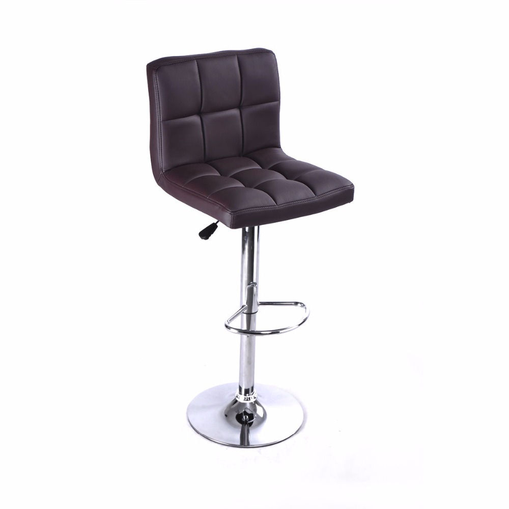 Bar chairs prices - 1pc Brown Bar Stool Pu Leather Barstools Chair Adjustable Counter Swivel Pub New Hw50129bn China