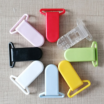 1Pcs Multi Colors Plastic Safety Clips 25mm Transparent Pacifier Clips Soother Holder For Baby Feeding Accessories