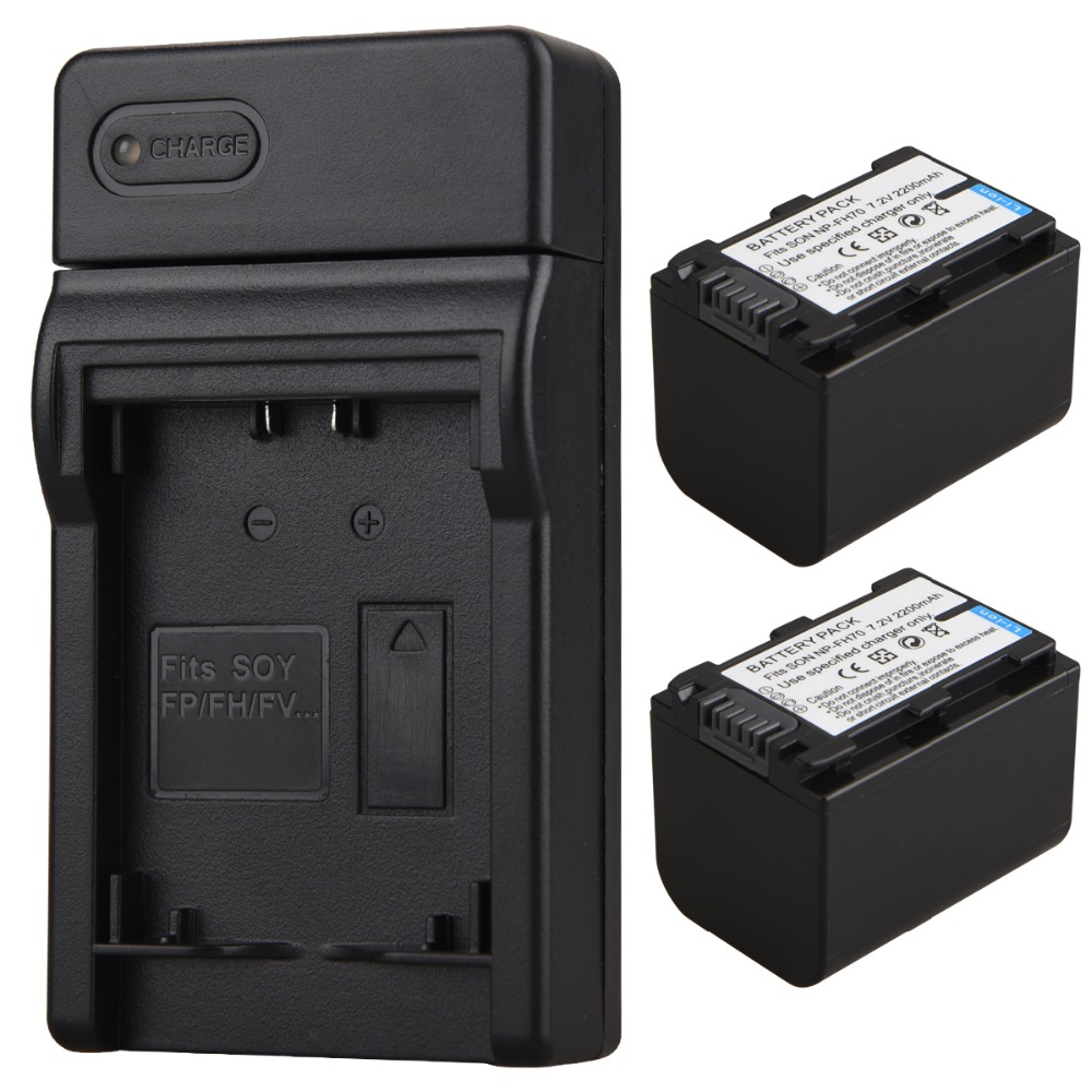 2pc 2200mAh NP-FH70 NP FH70 NPFH70 Lithium Digital Camera Battery+USB Charger for Sony NP-FH60 DCR-DVD650 HC52 SX40 SR Series стоимость