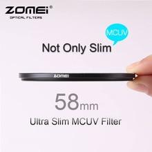 58mm ZOMEI PRO Ultra Slim MCUV 16 Layer Multi Coated Optical Glass MC UV Filter for Canon NIkon Hoya Sony DSLR Camera Lens 58 mm