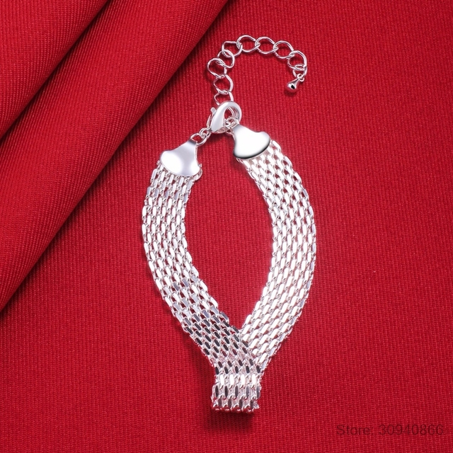 LEKANI Women's Fashion bracelet 925 sterling silver soft watchband charm bracelet & bangles fine jewelry Pulseiras de Prata 4