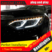 Car Styling New Arrival Headlight for Toyota Camry V55 headlights 2015 Camry LED Headlight led drl