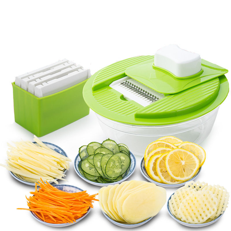 Mandoline Vegetable Slicer Dicer Fruit Cutter Slicer With 4 Interchangeable Stainless Steel Blades Potato Slicer Tools B0007