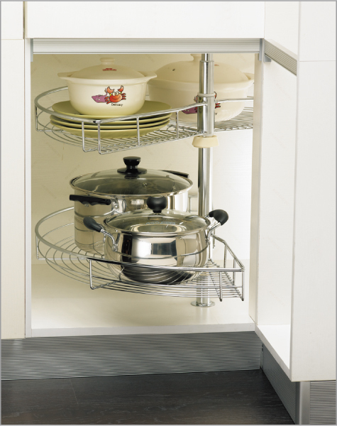 Kitchen Cabinet Corner Basket Disc 180 Swivel Plate Storage Lalan Rotating Shelf