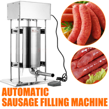 Free by  DHL 1PC High quality 10L Electric stainless steel Manual reliable sausage filling machine 110/220V 25W  Sausage machine