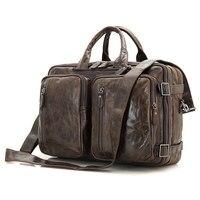 J.M.D 100% Guarantee Genuine Leather Handbag Laptop Bag For Men's Briefcase Large Size Satchel Bags 7014