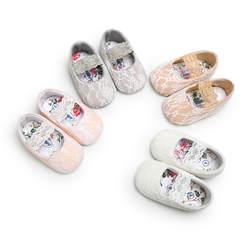 Милые кружевные туфли с цветочным рисунком для маленьких девочек, обувь для малышей, обувь для маленьких девочек, обувь для новорожденных