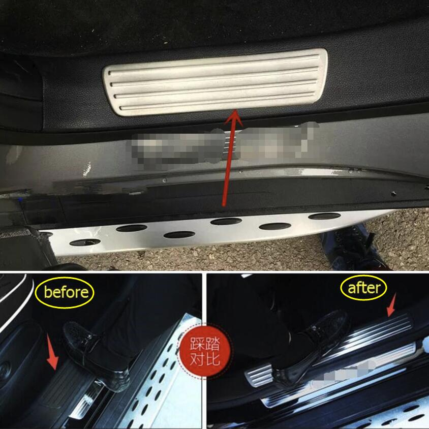 4PCS Welcome Pedal Door Sill Scuff Trim Panel for Range Rover Velar 2017-2018