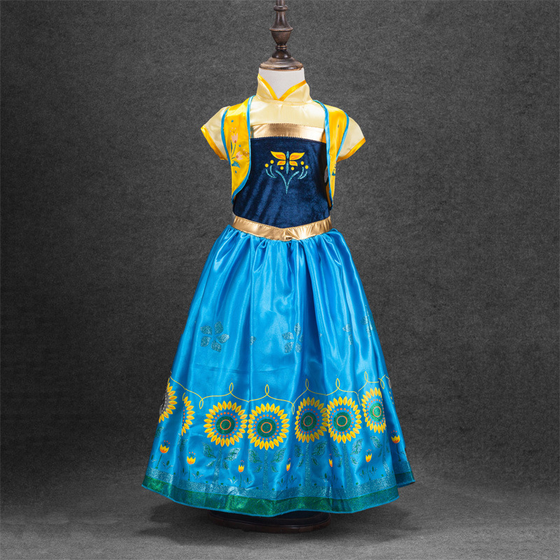 Summer Toddler Girls Clothing Kids Tutu Princess Anna Elsa Dresses Snow Queen Cosplay Costume Teen Clothes Size 3 11Yrs In From Mother